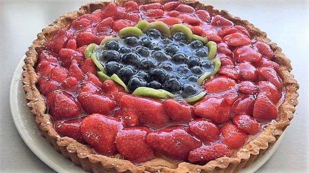 Linecká torta s ovocím