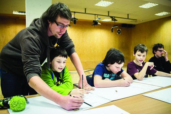 Martin Marko učí aj v grafiti škole.