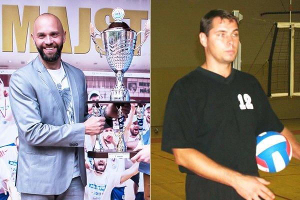 Marek Kardoš získal na lavičke Nitry dva tituly a  jedno striebro. Snímka z roku 2016, kedy bol finálovým súperom Prešov pod vedením Ľuboslava Šalatu (na archívnej snímke vpravo).