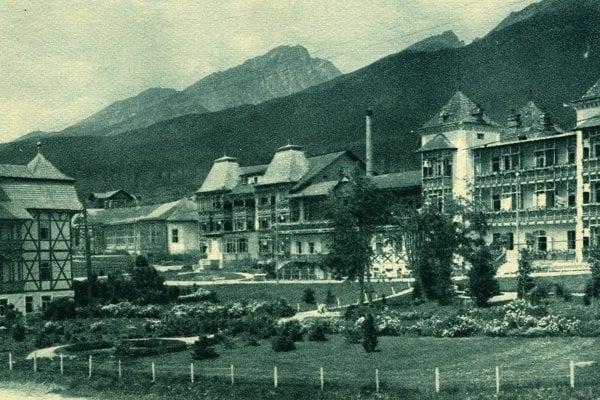 Sanatórium vNovom Smokovci po prvej svetovej vojne.