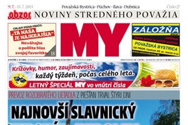 Nové číslo MY Noviny stredného Považia už v stánkoch a prdajniach.
