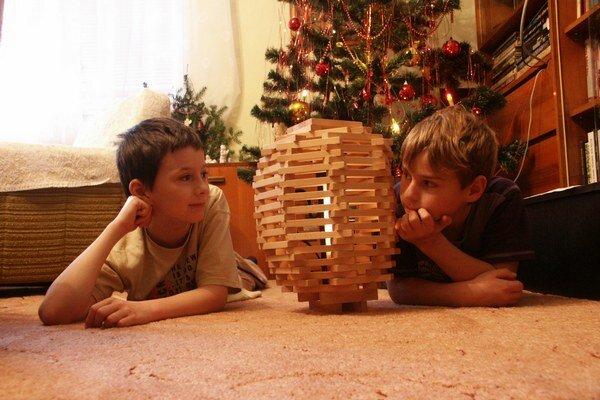 Stavebnicu našli chlapci až pod stromčekom.
