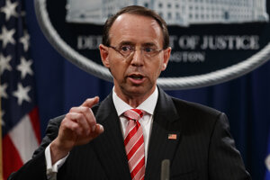 Námestník generálneho prokurátora USA Rod Rosenstein.