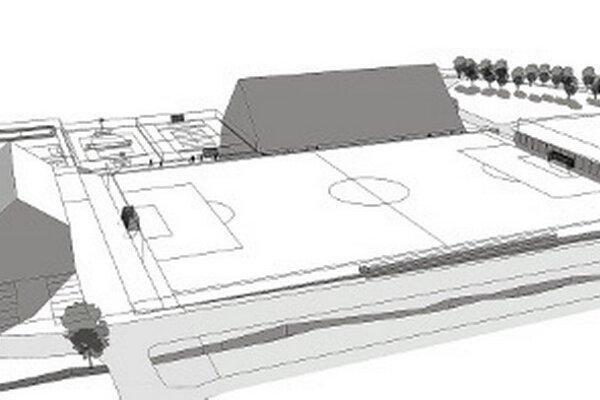 Štúdia športového komplexu v Oravskej Polhore.