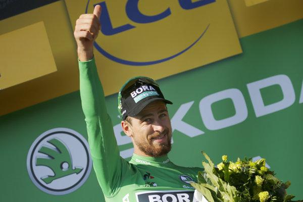 Peter Sagan získal zelený dres.