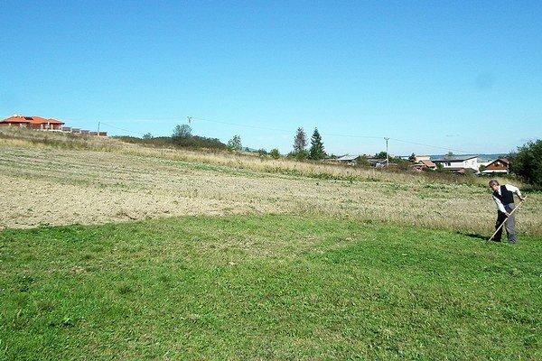 Lúku na Brehoch medzi sídliskom azáhradkami pokryjú rodinné domy.