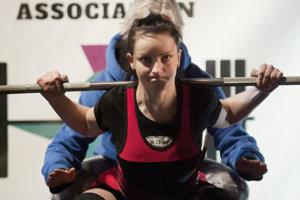 Veronika Klesniaková počas súťaže v Škótsku.