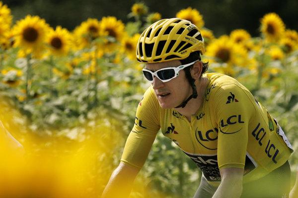 Geraint Thomas v žltom drese na Tour de France 2018.