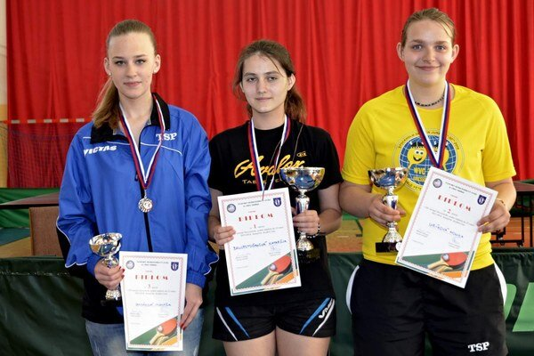 Katarína Belopotočanová (v strede) vyhrala kategóriu žien.