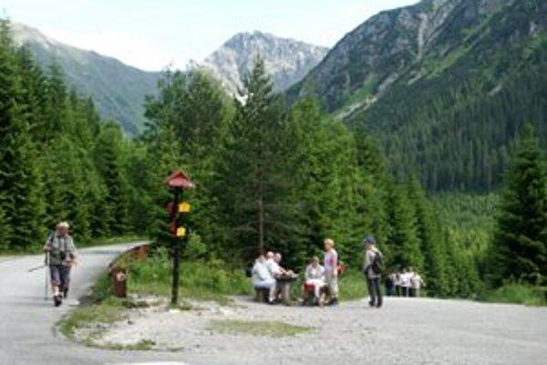 Nasledujúce dva týždne povedie trasa k Ťatliakovej chate po tejto ceste, pri rázcestí Adamcuľa vpravo.