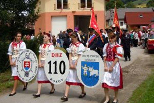 Dobrovoľní hasiči oslavujú 110. výročie založenia zboru.