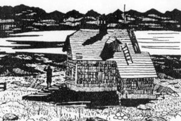 Schlesingerova útulňa na Babej hore. Postavili ju talianski kamenári v roku 1904. V roku 1949 vyhorela a o tridsať rokov už boli zvyšky múrov so základmi zrovnané so zemou.