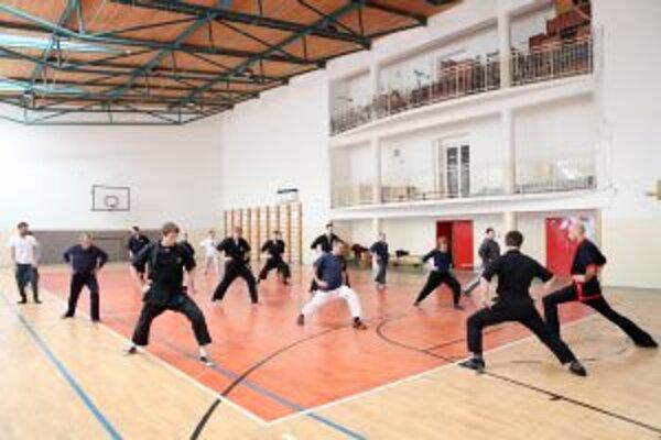 Cvičenie počas seminára.