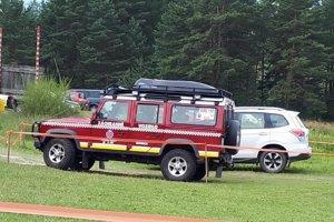 Záchranári v pohotovosti.