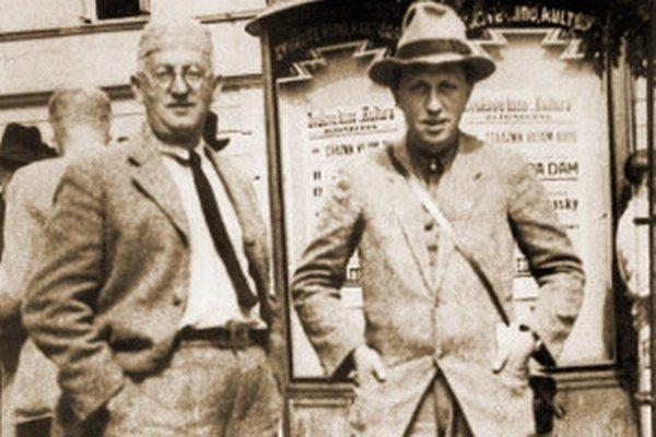 Bratia Čapkovci na návšteve v Ružomberku.