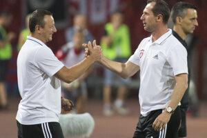 Tréner FC Spartak Trnava Radoslav Látal sa teší po remíze 1:1.