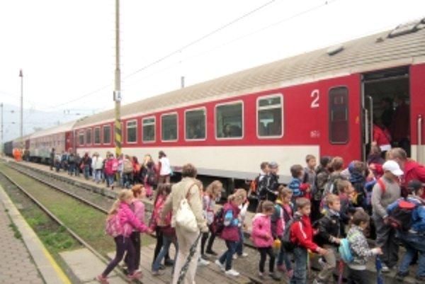 Aj to bol jeden z dopravných prostriedkov, ktoré deti využili.