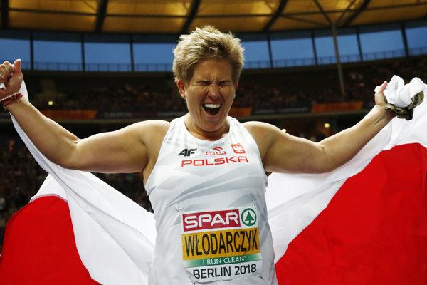 Zlato v hode kladivom si Anita Wlodarczyková zaslúžila rekordom šampionátu.
