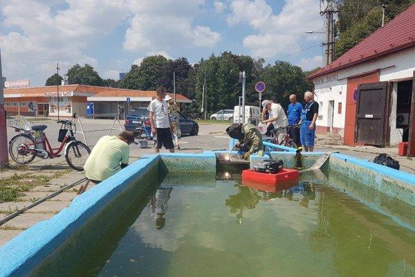 Úprava artézskej studne.