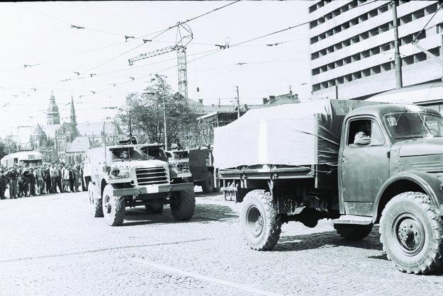 August 68 na košickej Hlavnej ulici.