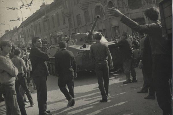 Okupačné vojská v Prešove.