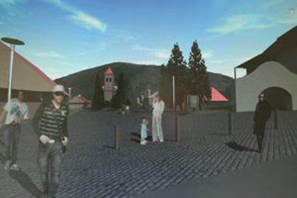 Takto by mal vyzerať Oravský Podzámok po rekonštrukcii jeho centra.