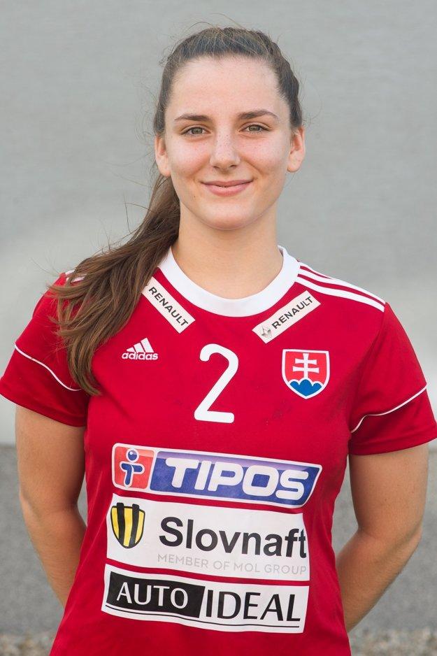 Zuzana Trepáčová bola najmladšou hráčkou slovenského výberu, ale zároveň jeho najlepšou strelkyňou.