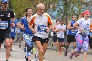 Ján Hazucha počas newyorského maratónu.