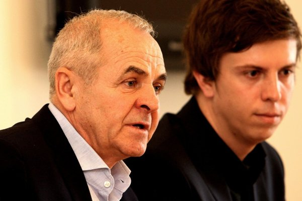 Predseda BBSK Ján Lunter a riaditeľ Úradu BBSK Matúš Hollý.