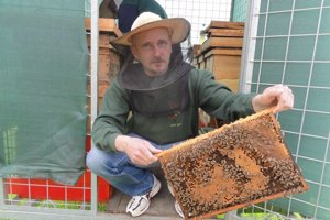Rastislav Prochádzka pri svojich včelách trávi každé voľné popoludnie.