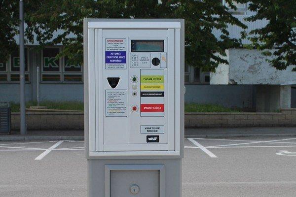Nový parkovací automat.