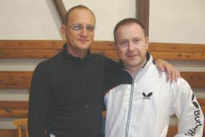 Hráči Mladosti - Peter Horváth (vľavo) a Ľuboš Voliar.