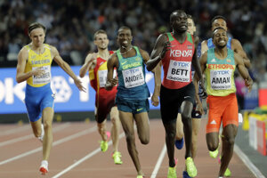 Kipyegon Bett (druhý sprava) mal pozitívny dopingový nález.