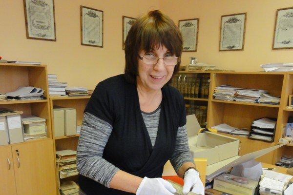 Riaditeľka topoľčianskeho archívu Oľga Kvasnicová.