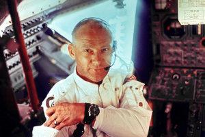 Astronaut Buzz Aldrin počas pristávania na Mesiaci.