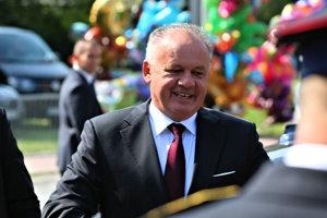 Prezident Andrej Kiska na oslavách SNP v Banskej Bystrici.