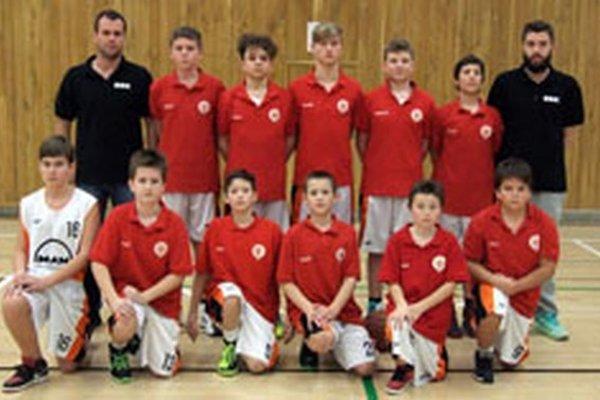 Mladí basketbalisti Bánoviec.