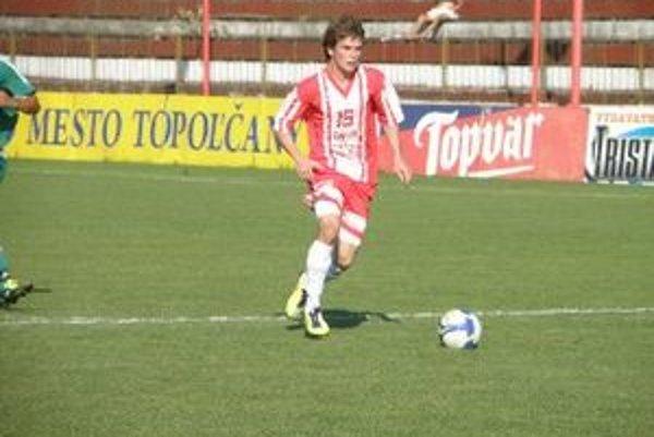 Róbert Gešnábel strelil prvý gól Topoľčian, na zvyšné dva nahrával.