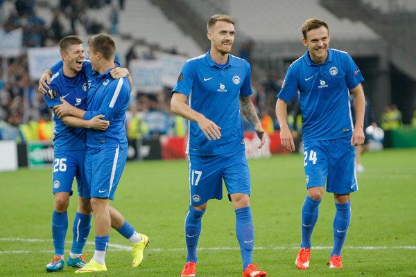 Futbalisti Slovana Liberec - ilustračná fotografia.