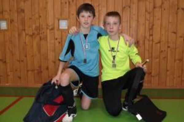 Strelec turnaja Boris Rybánsky a najlepší brankár turnaja Adam Arpáš.