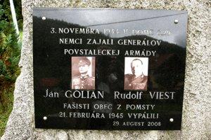 Pamätník Golianovi a Viestovi v Pohronskom Bukovci