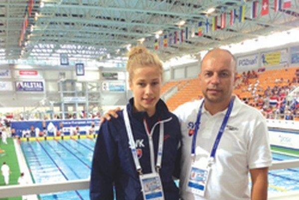 Andrea Podmaníková a Vladimír Železník na ME juniorov v poľskej Poznani.