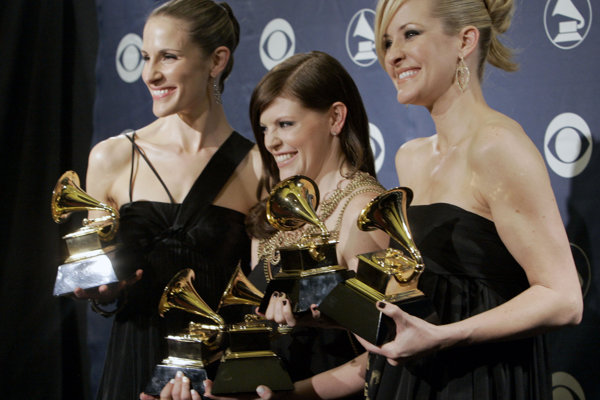 Skupina Dixie Chicks so svojimi cenami Grammy.