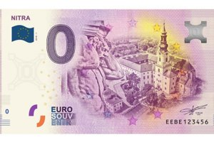 Na bankovke je zobrazený Nitriansky hrad aj socha Corgoňa.