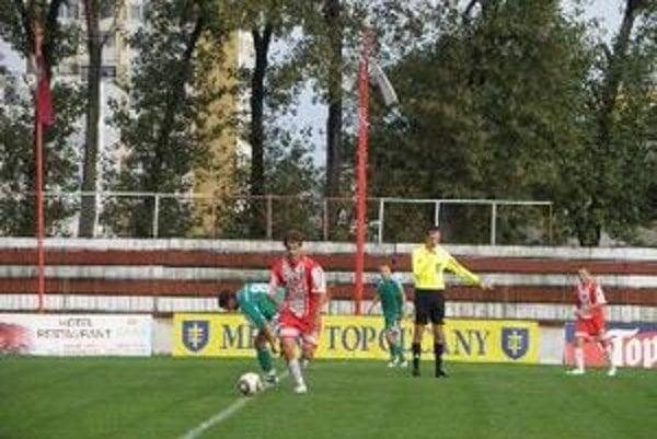 Matúš Balážik strelil druhý gól Topoľčian z pokutového kopu.