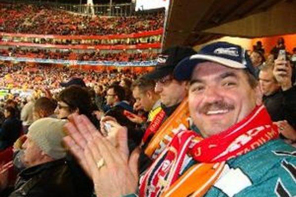 Michal Kica na štadióne Arsenalu Londýn.