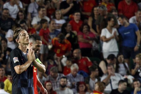 Sklamaný kapitán Chorvátska Luka Modrič.
