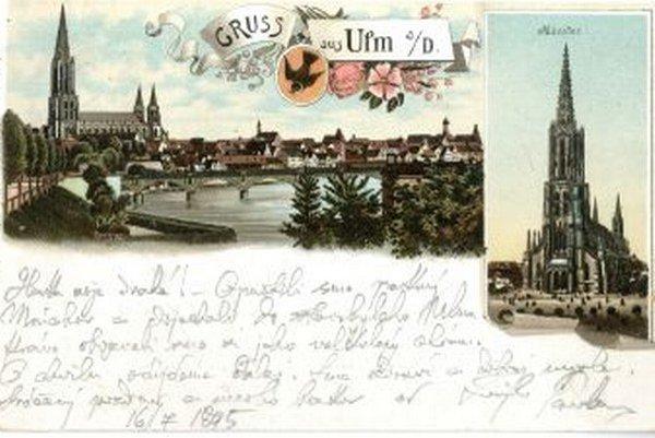 List P. O. Hviezdoslava pre jeho ženu.