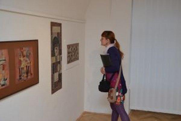 Z interiéru výstavy.