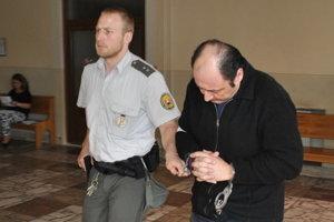 Sebastiano Vadala na súde v Trebišove, keď rozhodoval o jeho väzbe.